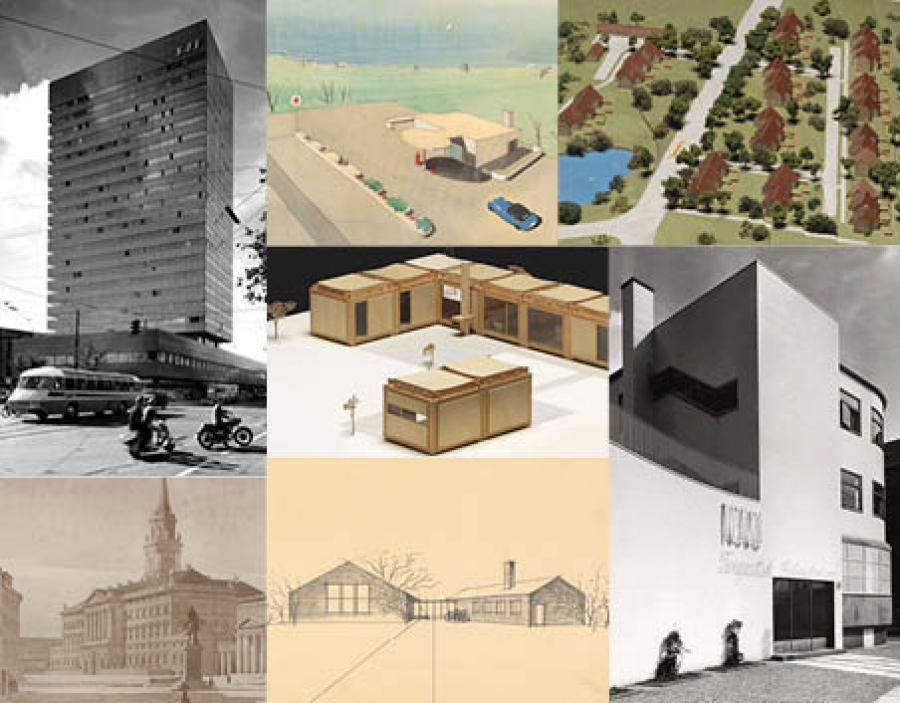 Tegninger, fotografier og modeller fra Danmarks Kunstbibliotek