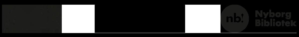 Logoer for Nyborg Gymnasium, Nyborg Ungdomsskole - ingen uden alle - og Nyborg Bibliotek